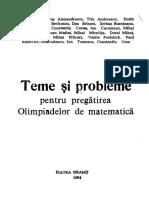 Teme si probleme pentru pregatirea olimpiadelor de matematica - (colectiv) Piatra Neamt (1984)