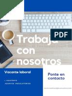 Vacantes laborales 2021 - Asuntos regulatorios - Droguería en apertura