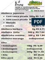 Tabela Produtos Santé