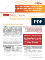 Guía N° 2 Monitoreo y evaluación, Serie ¿Cómo diseñar metas e indicadores para el monitoreo y evaluación de políticas públicas_