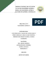 Informe práctica 8 equilibrio químico