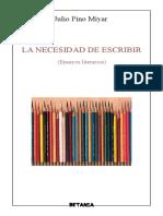 Julio Pino Miyar_La Necesidad de Escribir