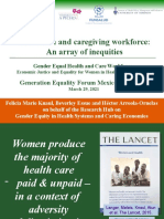 The health and caregiving workforce