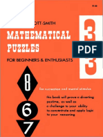 Mathematical Puzzles for Beginners & Enthusiasts