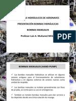 3 Bombas Hidráulicas Aeronáuticas - Bombas Manuales