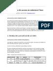 Uso de listas de acceso en entornos Cisco