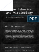 Human Behavior and Victimology