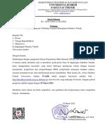 Surat Edaran Survey Kepuasan Layanan Manajemen FT UNEJ 2021