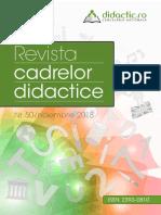 Revista Cadrelor Didactice Nr 50 2018