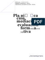 Planificación, Mediación y Evaluación Formativa