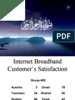 broadband customerr Ssatisfaction BRM
