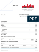 Sample - Monthly Owner Statement