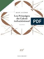 Les Principes du Calcul Infinit - Rene Guenon