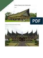 40 Gambar Rumah Adat di Indonesia