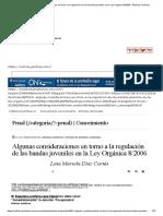 Algunas Consideraciones en Torno a La Regulación de Las Bandas Juveniles en La Ley Orgánica 8_2006 · Noticias Jurídicas