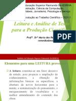 Leitura e análise de texto