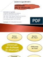 Logic Universals (Al-Kulli Al-Khams)