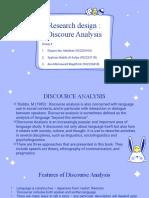 Discoure Analysis