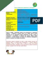 Planificación y Evaluación de Experiencia a Corto Plazo No Presencial