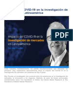 Impacto del COVID en lainvestigacion de mercados en Latinoamerica
