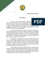Nota do Sindepo-DF sobre vacinação de servidores da segurança