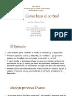 RESUMEN- Capitulo 8. Como bajar el cortisol (Del libro