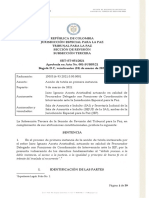 Sentencia SRT ST 051 24 Marzo 2021
