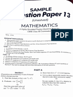 Maths Sample Paper 13