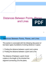 LEC6 - Distances Between Points and a Line and Surfaces in Space