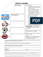descriptive writing worksheet