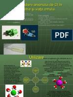 Rolul studierii anionului de Cl în industrie şi