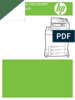 HP Color LaserJet CM4730-Handbuch