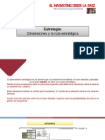 ESTRATEGIA.- Dimensiones y ruta estratégica