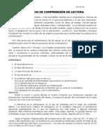 COMPRENSIÓN LECTORA QUINTO DE SECUNDARIA