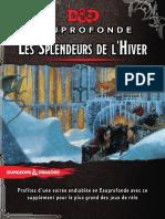 DD5 Scénario Les splendeurs de l'hiver Niv 1 - Eauprofonde Version livre à imprimer