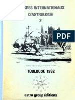 Congrès Internationaux d'Astrologie 2 - Toulouse 1982