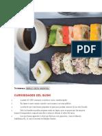 Elaboracion de comida sushi 2