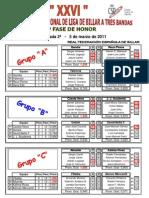 Resultados y clasificaciones Liga Nacional División Honor - 2ª Jornada