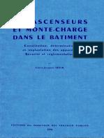 Les Ascenseurs Et Monte Charge Dans Le Batiment - 1970