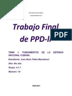 Trabajo de PPD Tema 1