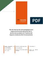 2017 - Plan de Intervención Psicopedagógica Para Mejorar FE en ALF