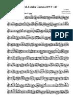 Corale cantata 147 - 016 Violino I