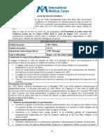 Avis de Recrutement_VBG Officer Mopti_04 09 2020