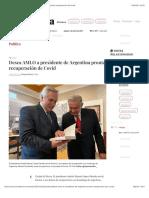 La Jornada - Desea AMLO a presidente de Argentina pronta recuperación de Covid