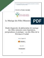 le mariage des filles mineures au maroc