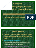 Capital Budgeting Financial Appraisal of Investment Project