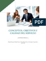CONCEPTOS Y CALIDAD DEL SERVICIO