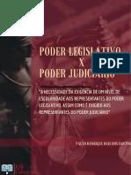 PODER LEGISLATIVO X PODER JUDICIÁRIO
