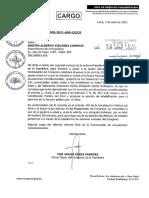 Vizcarra es notificado para asistir a Comisión Permanente