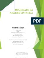 A simplicidade da análise sintática pdf